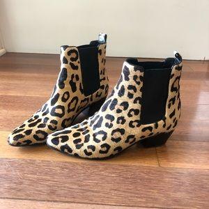 Saint Laurent Leopard Cheetah Animal Print Booties